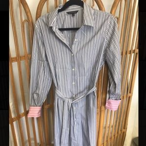 Brooks Brothers 346 striped shirt dress